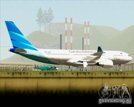 Airbus A330-243 Garuda Indonesia для GTA San Andreas вид снизу
