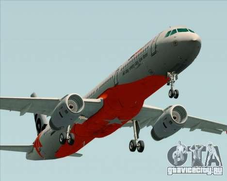 Airbus A321-200 Jetstar Airways для GTA San Andreas двигатель