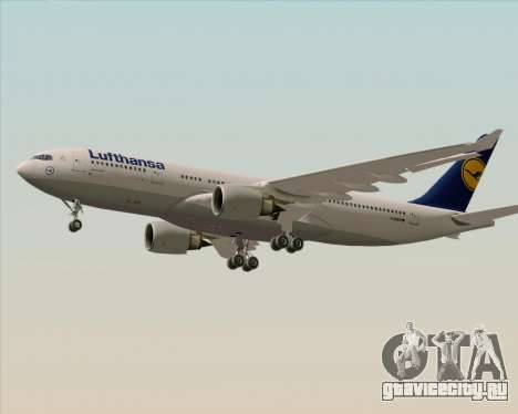 Airbus A330-200 Lufthansa для GTA San Andreas вид сзади слева