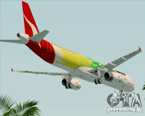 Airbus A321-200 Qantas (Socceroos Livery) для GTA San Andreas вид сбоку