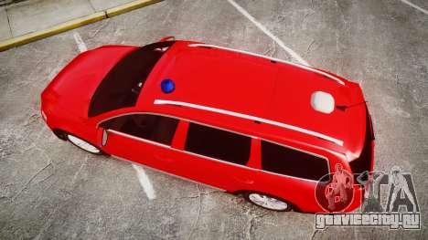 Volkswagen Passat 2014 Unmarked Police для GTA 4 вид справа