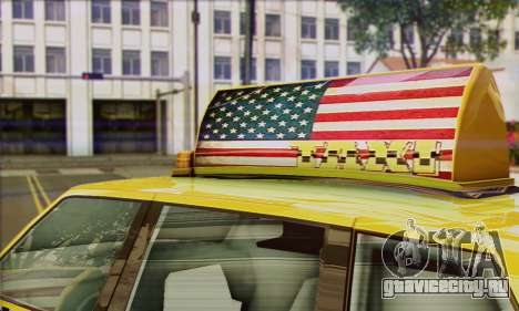 VAPID Huntley Taxi (Saints Row 4 Style) для GTA San Andreas вид сзади слева