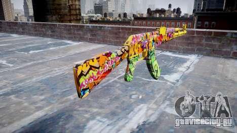 АК-47 graffiti camo для GTA 4 второй скриншот