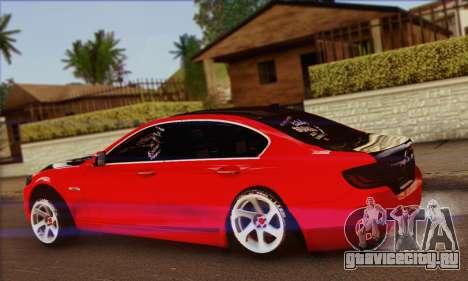 BMW 535i F10 Stance Works для GTA San Andreas вид слева