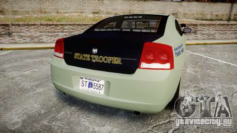 Dodge Charger 2010 Alabama State Troopers [ELS] для GTA 4 вид сзади слева