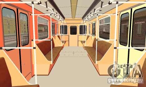 Метровагон типа 81-717 для GTA San Andreas вид сбоку