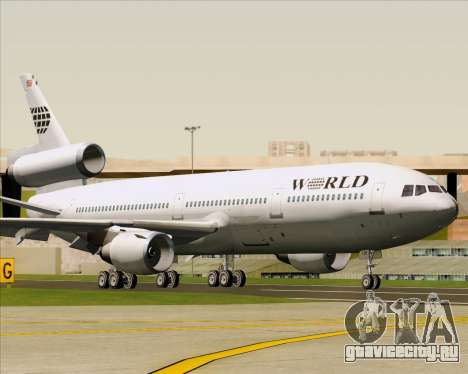 McDonnell Douglas DC-10-30 World Airways для GTA San Andreas вид слева