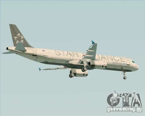 Airbus A321-200 Air New Zealand (Star Alliance) для GTA San Andreas двигатель