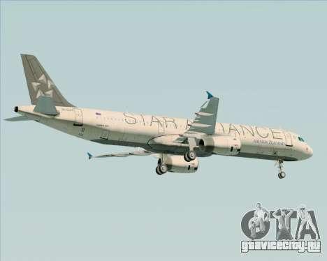 Airbus A321-200 Air New Zealand (Star Alliance) для GTA San Andreas двигатель