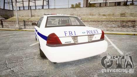 Ford Crown Victoria F.B.I. Police [ELS] для GTA 4 вид сзади слева
