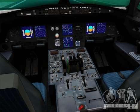 Airbus A321-200 Qantas (Socceroos Livery) для GTA San Andreas салон