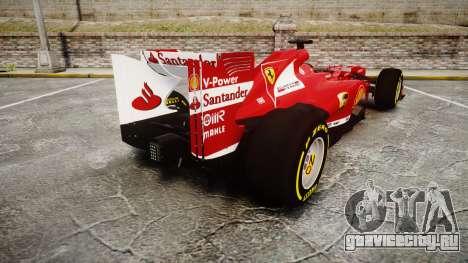 Ferrari F138 v2.0 [RIV] Alonso TSD для GTA 4 вид сзади слева