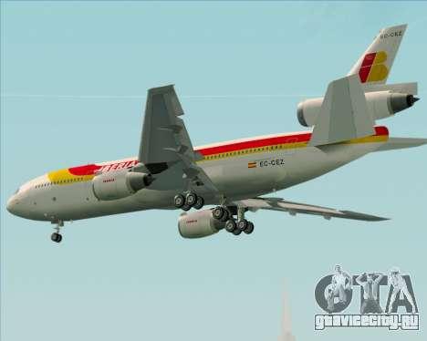 McDonnell Douglas DC-10-30 Iberia для GTA San Andreas вид справа