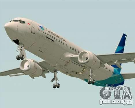 Boeing 737-800 Garuda Indonesia для GTA San Andreas салон