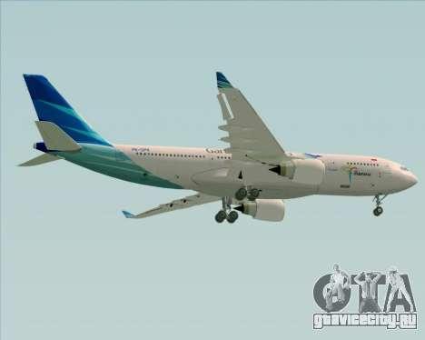Airbus A330-243 Garuda Indonesia для GTA San Andreas вид изнутри