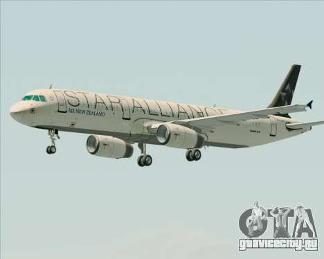 Airbus A321-200 Air New Zealand (Star Alliance) для GTA San Andreas колёса