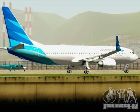 Boeing 737-800 Garuda Indonesia для GTA San Andreas вид сверху