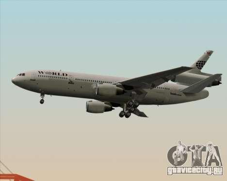 McDonnell Douglas DC-10-30 World Airways для GTA San Andreas вид сзади слева