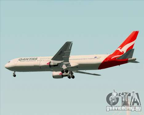 Boeing 767-300ER Qantas (New Colors) для GTA San Andreas колёса