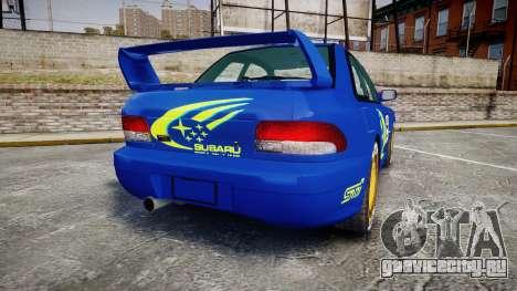 Subaru Impreza WRC 1998 World Rally для GTA 4 вид сзади слева