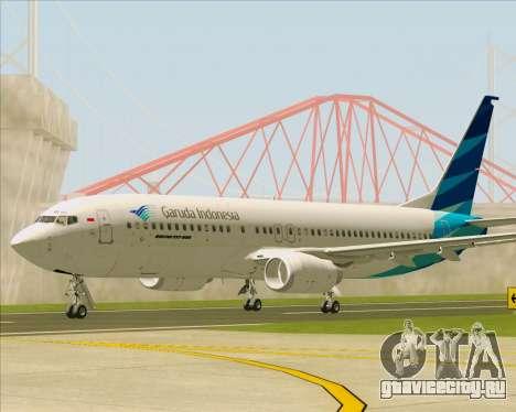 Boeing 737-800 Garuda Indonesia для GTA San Andreas вид слева