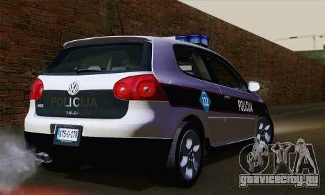 Volkswagen Golf 5 (ELM) для GTA San Andreas вид слева