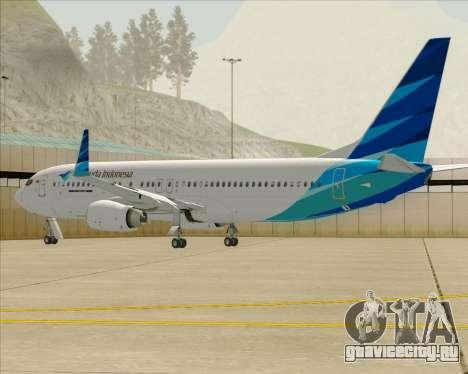 Boeing 737-800 Garuda Indonesia для GTA San Andreas двигатель