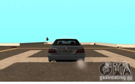 Mercedes-Benz W212 (Wheeljack from TF 3) для GTA San Andreas вид сзади слева