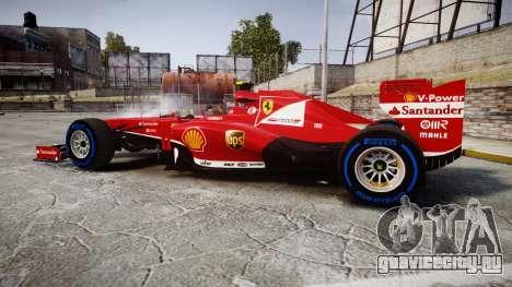 Ferrari F138 v2.0 [RIV] Massa TFW для GTA 4 вид слева