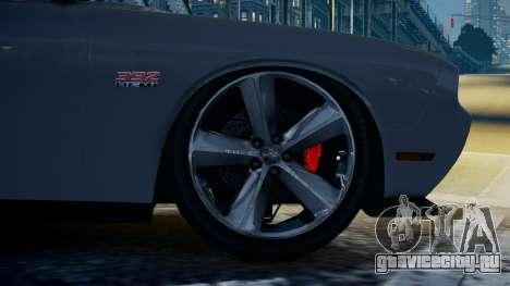 Dodge Challenger SRT8 для GTA 4 вид сзади слева