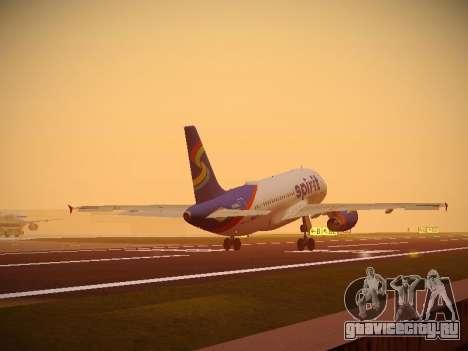 Airbus A319-132 Spirit Airlines для GTA San Andreas колёса