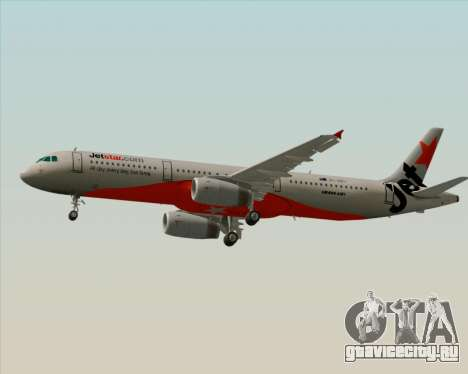 Airbus A321-200 Jetstar Airways для GTA San Andreas вид сзади слева