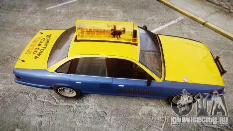 Vapid Stanier Taxi DCC для GTA 4 вид справа