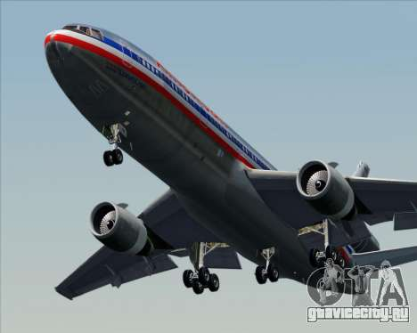 McDonnell Douglas DC-10-30 American Airlines для GTA San Andreas вид сверху