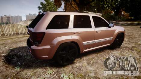 Jeep Grand Cherokee SRT8 rim lights для GTA 4 вид слева