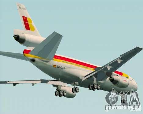 McDonnell Douglas DC-10-30 Iberia для GTA San Andreas вид сверху