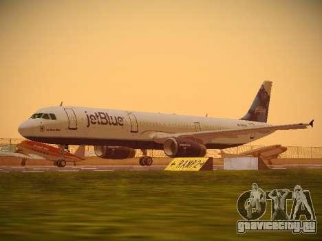 Airbus A321-232 jetBlue La vie en Blue для GTA San Andreas