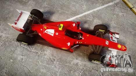 Ferrari 150 Italia Massa для GTA 4 вид справа