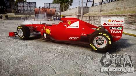 Ferrari 150 Italia Massa для GTA 4 вид слева