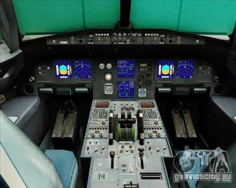 Airbus A321-200 Air Busan для GTA San Andreas салон