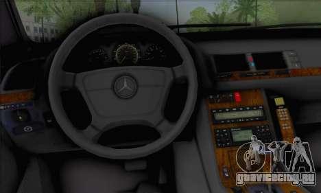 Mercedes-Benz E420 W210 для GTA San Andreas вид сзади слева