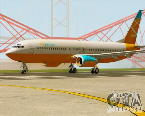 Boeing 737-800 Orbit Airlines для GTA San Andreas вид сзади слева