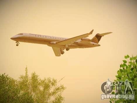 Bombardier CRJ-700 Continental Express для GTA San Andreas вид справа