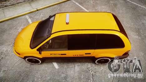 Schyster Cabby Taxi для GTA 4 вид справа