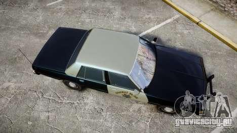 Chevrolet Caprice 1986 Brougham Police [ELS] для GTA 4 вид справа