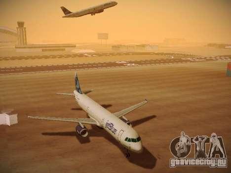 Airbus A321-232 jetBlue La vie en Blue для GTA San Andreas вид изнутри