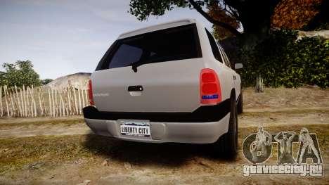 Dodge Durango 2000 Undercover [ELS] для GTA 4 вид сзади слева