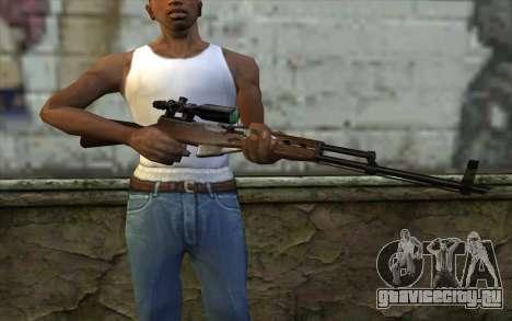 СКС с Оптическим Прицелом для GTA San Andreas третий скриншот