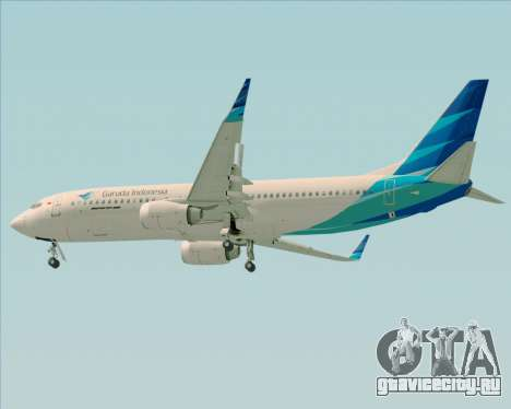 Boeing 737-800 Garuda Indonesia для GTA San Andreas вид справа