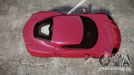 Alfa Romeo 4C для GTA 4 вид справа